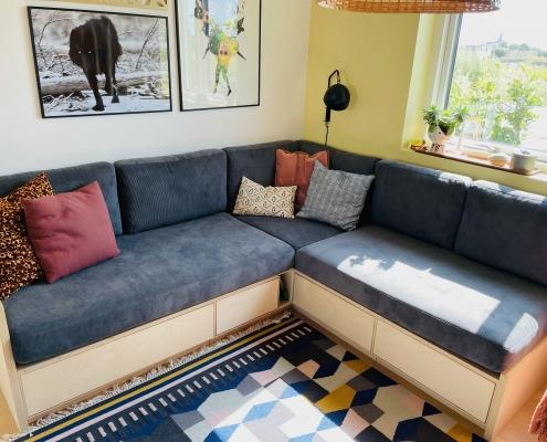 Sofa efter løse hynder