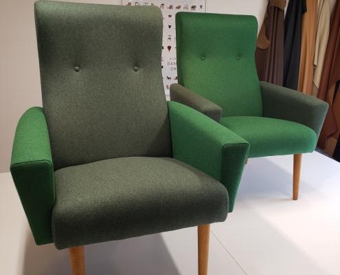 2 grønne armstole